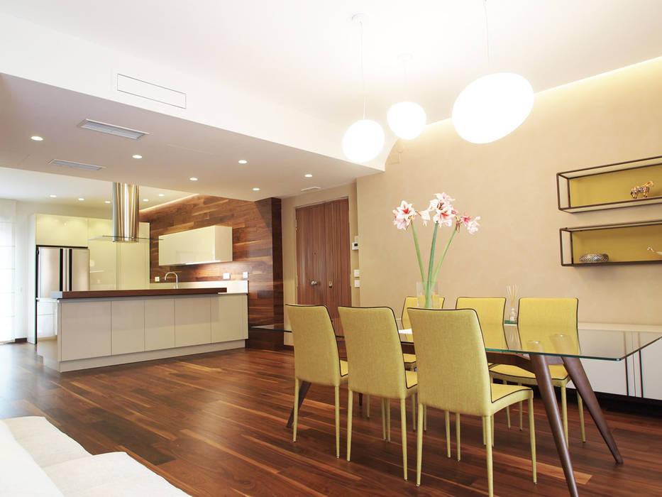 Abitazione Privata V1 Sala da pranzo moderna di Architetto Adalberto Pacillo Moderno Legno Effetto legno