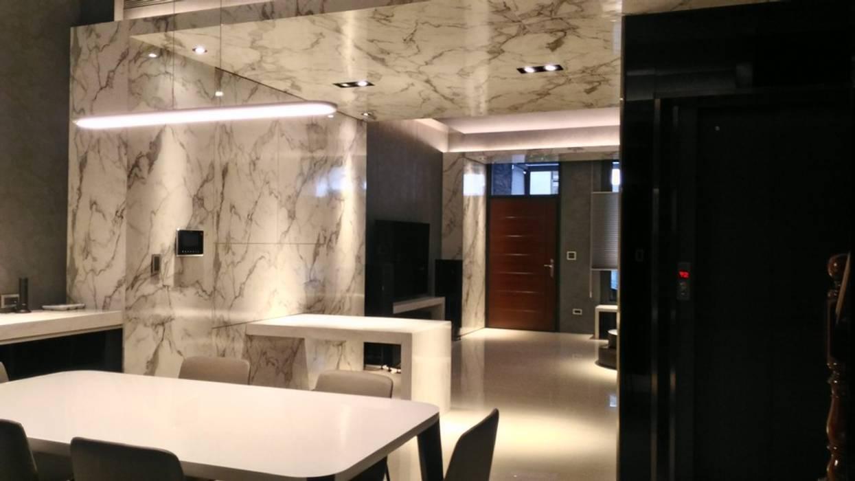 泡茶區 现代客厅設計點子、靈感 & 圖片 根據 勻境設計 Unispace Designs 現代風