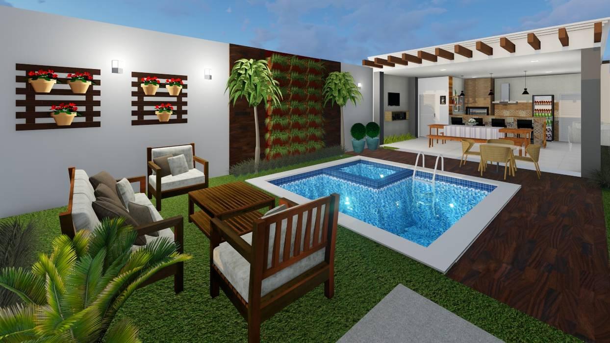 Jardines de estilo moderno de Miliany Alves Moderno