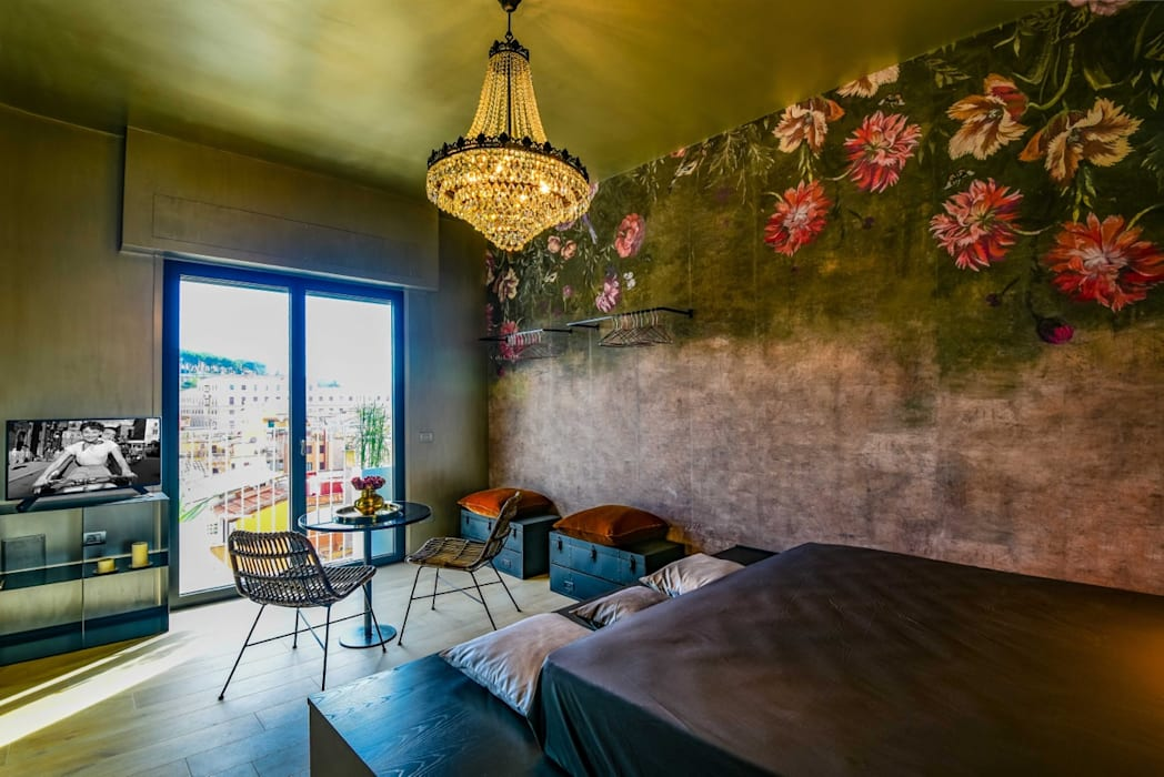 Borgo 48: Soggiorno in stile  di Arabella Rocca Architettura e Design