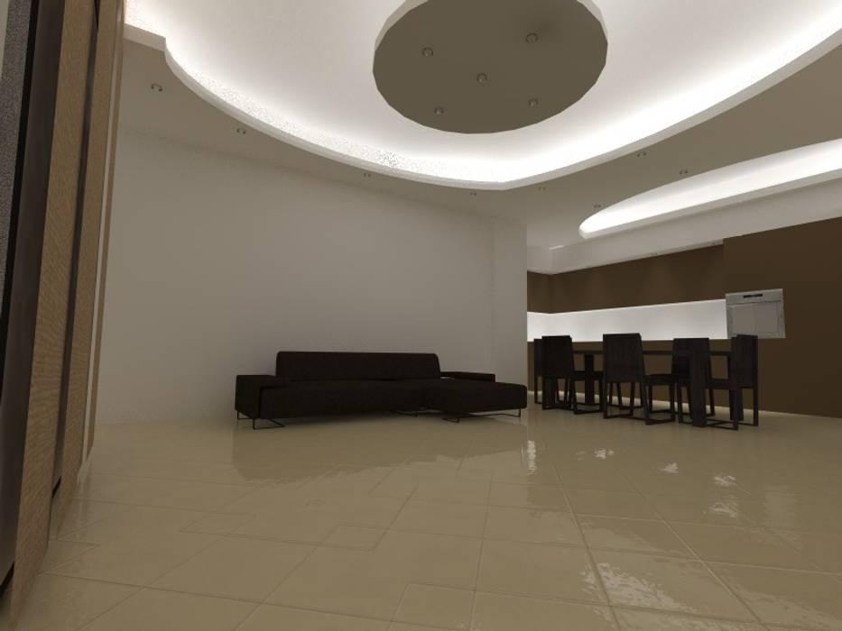 L' open space di Luca e Maria: Soggiorno in stile in stile Moderno di Arch. Cristina Dragone