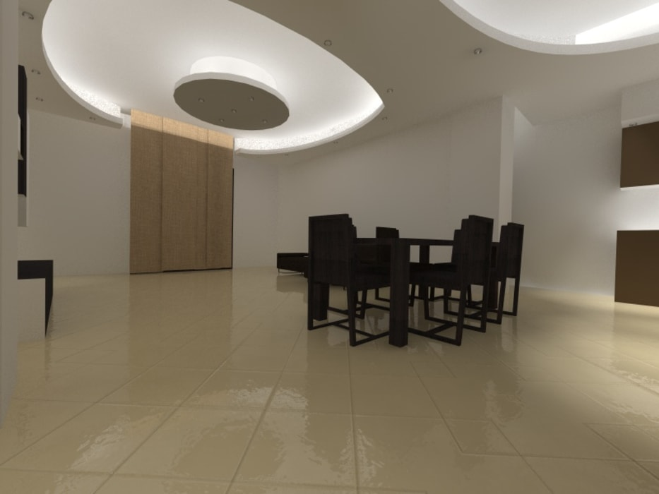 L' open space di Luca e Maria: Sala da pranzo in stile in stile Moderno di Arch. Cristina Dragone