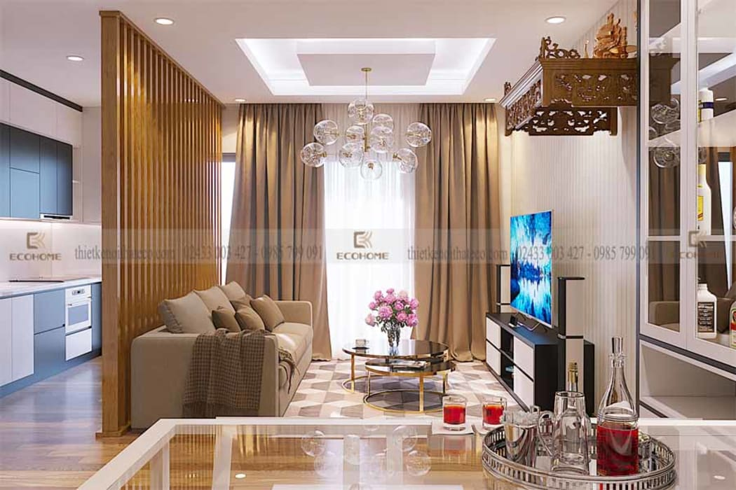 Living room by Công Ty TNHH Xây Dựng & Nội Thất ECO Việt Nam, Modern