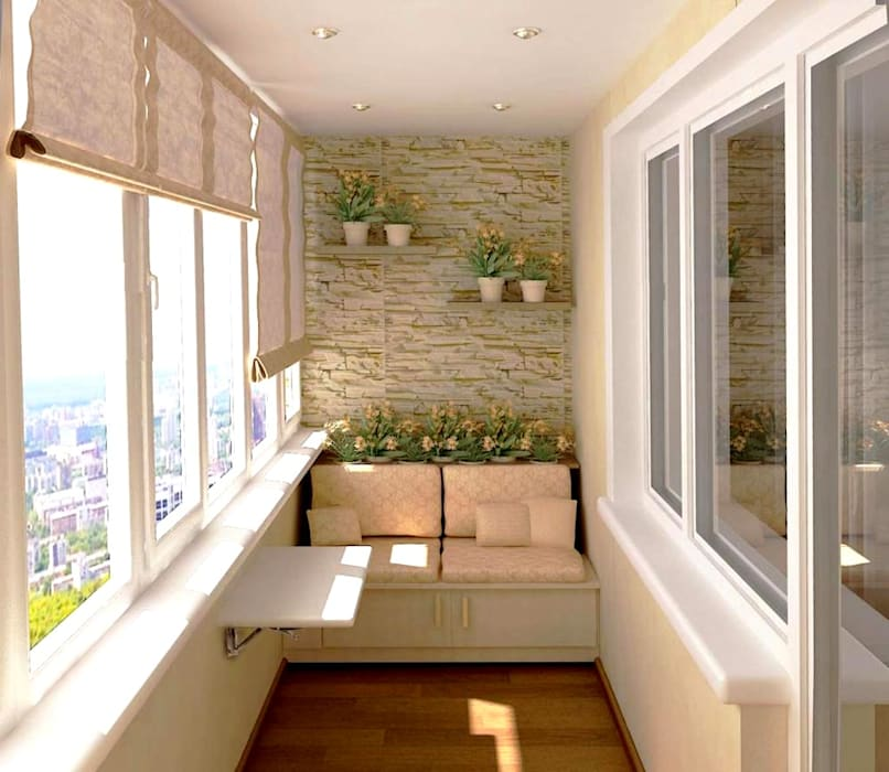 Interior Modern balcony, veranda & terrace by Workz Services LLP Modern