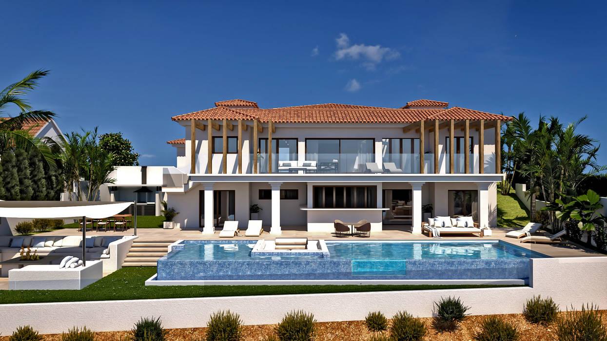 Exterior : Casas de estilo  de Pacheco & Asociados