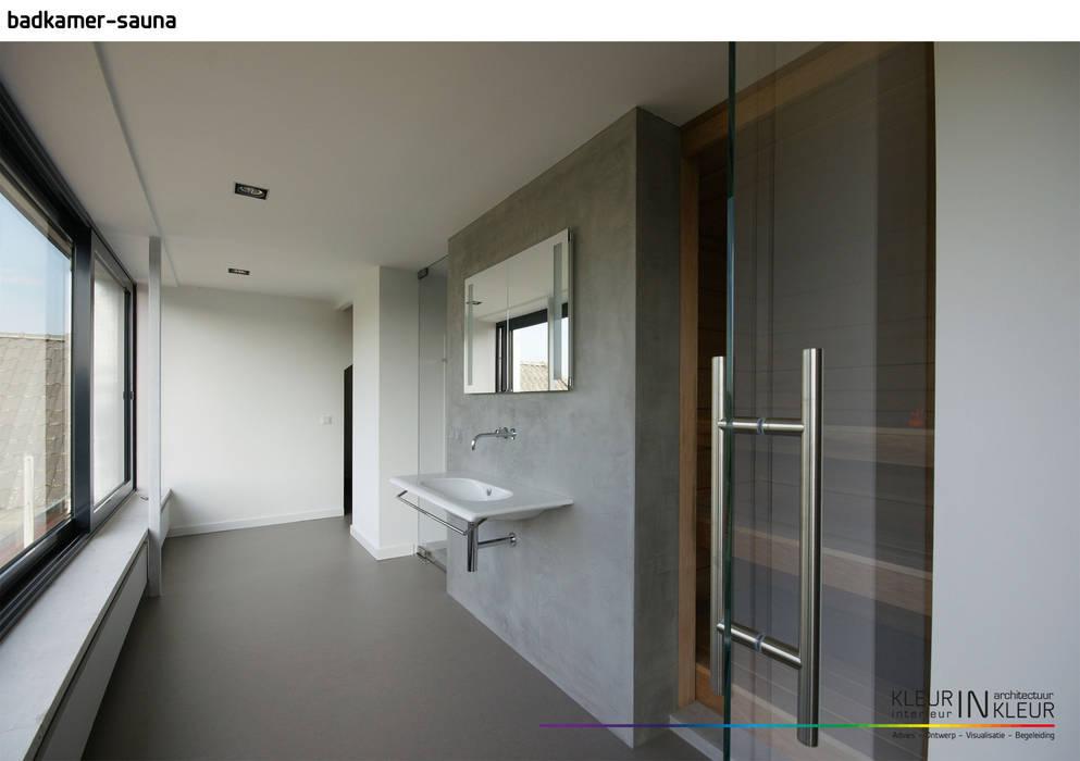 Minimalistisch interieur badkamer door kleurinkleur interieur