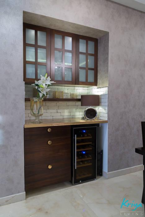 3 BHK Apartment - Raheja Pebble Bay Modern dining room by KRIYA LIVING Modern