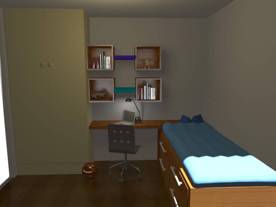 Un dormitorio que se  transforma con los años: Dormitorios juveniles  de estilo  por Minimalistika.com,