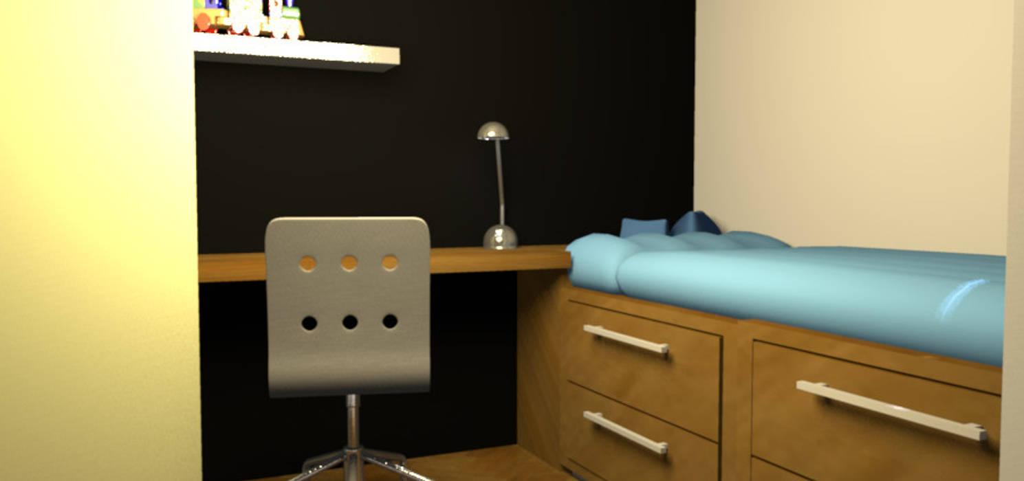 Un dormitorio que se  transforma con los años: Dormitorios juveniles  de estilo  por Minimalistika.com