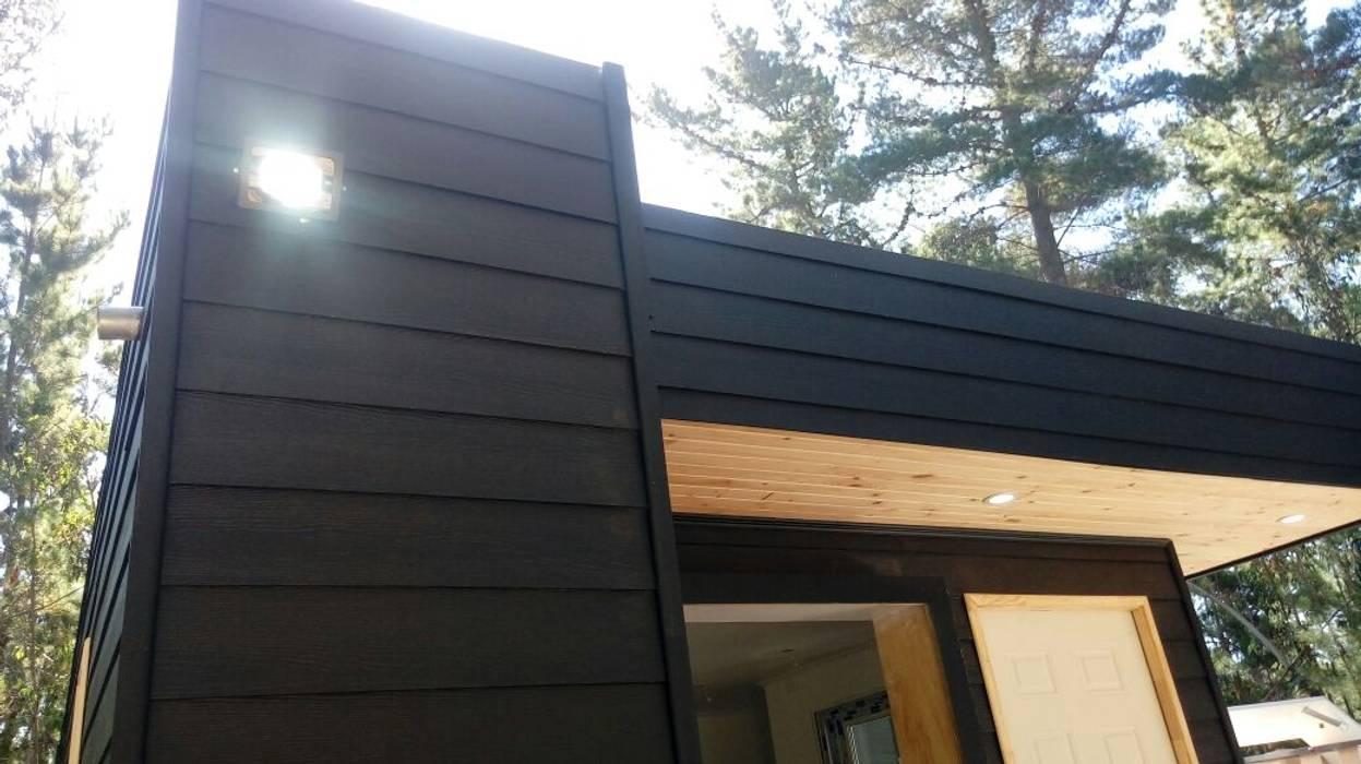 cabaña de madera de Incove - Casas de madera minimalistas Mediterráneo