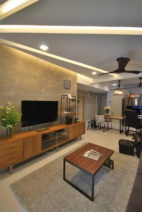 Casa Tropica:  Living room by Hatch Interior Studio Sdn Bhd