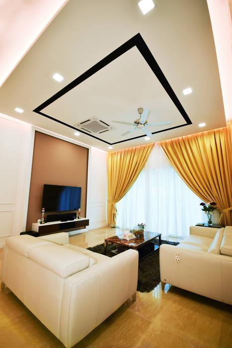 Ampang:  Living room by Hatch Interior Studio Sdn Bhd