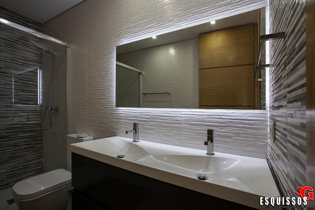 Casa Monteiro: Casas de banho  por Esquissos 3G