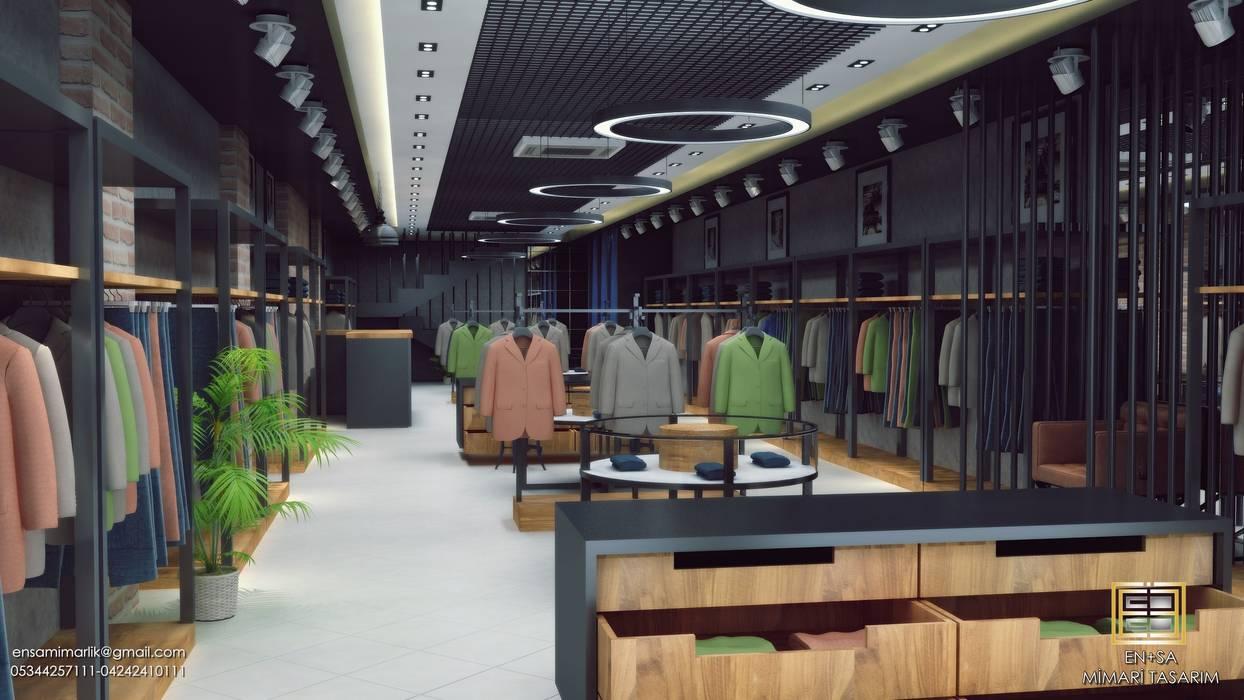 f52e6cea09ee7 EN+SA MİMARİ TASARIM – erkek giyim mağazası: tarz Ofisler ve Mağazalar