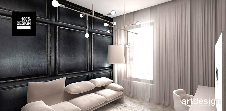 LUCKY DOG | Wnętrza apartamentu: styl , w kategorii Domowe biuro i gabinet zaprojektowany przez ARTDESIGN architektura wnętrz