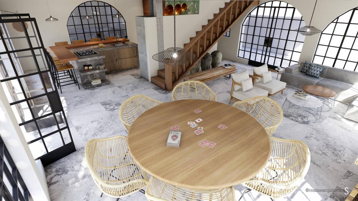 Salon moderne par realizearquiteturaS Moderne