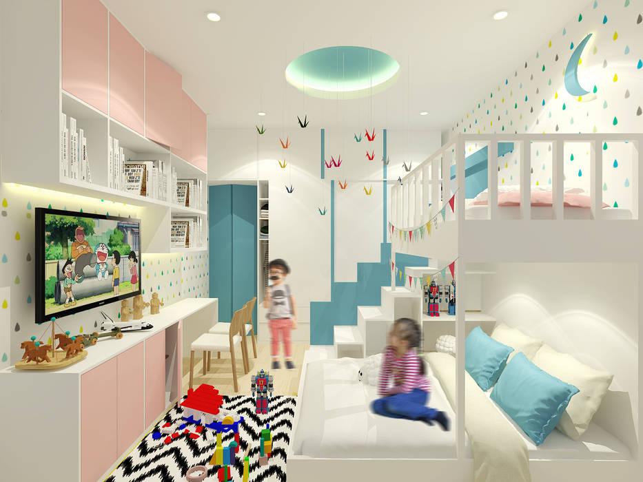 Mr. Adrian's Kids Bedroom:  Kamar Tidur by SEKALA Studio