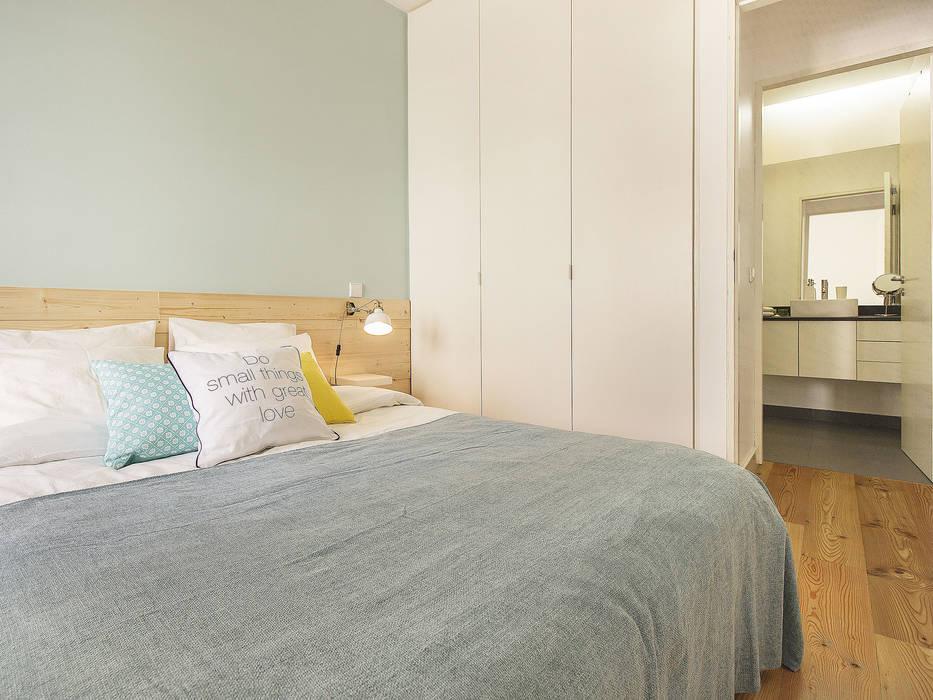 Apartamento da Glória Quartos escandinavos por Homestories Escandinavo