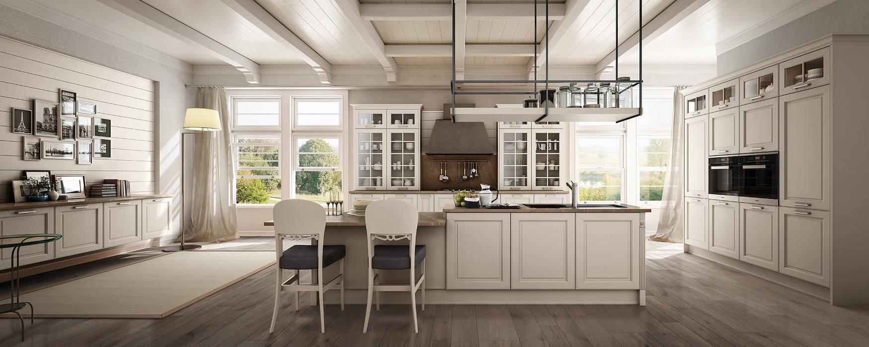 Cucina Dolcevita – International style – Canapa assoluto: Cucina in stile  di Ferrari Arredo & Design