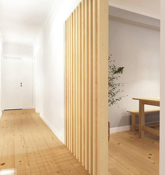 斯堪的納維亞風格的走廊,走廊和樓梯 根據 Homestories 北歐風