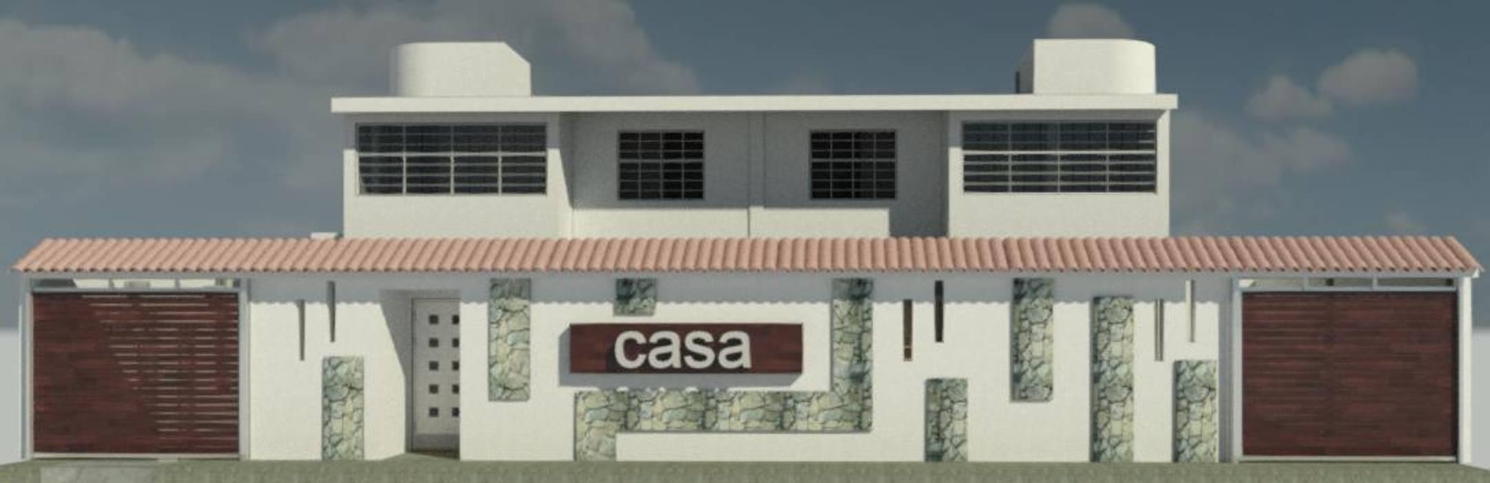 FACHADA PRINCIPAL Casas de estilo ecléctico de ESTUDIO KULUMAK Ecléctico Piedra