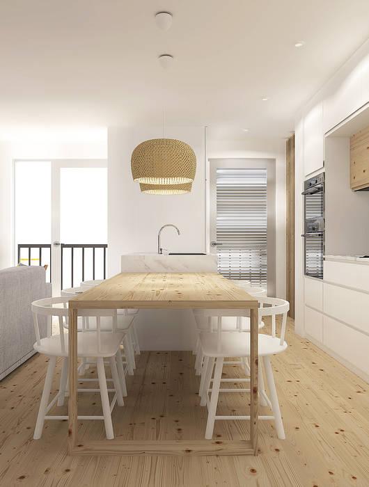 Scandinavian style dining room by Homestories Scandinavian