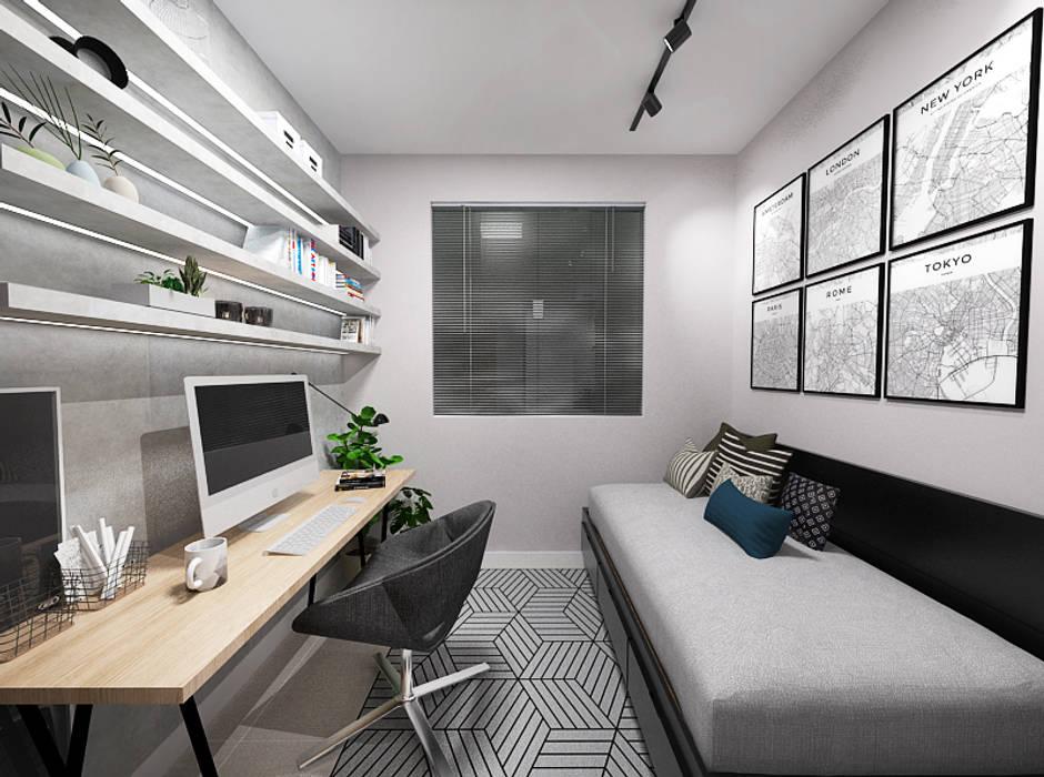 Industriële slaapkamer door sódesign   homify