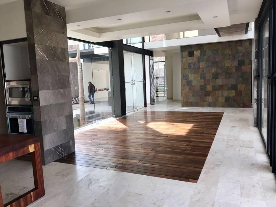 GRUPO VOLTA Modern living room Marble Grey