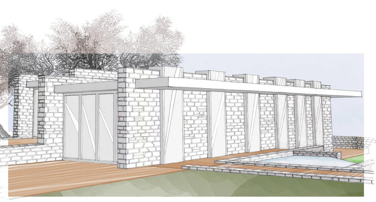 Muro Trombe: Giardino in stile  di LAB+ARCS