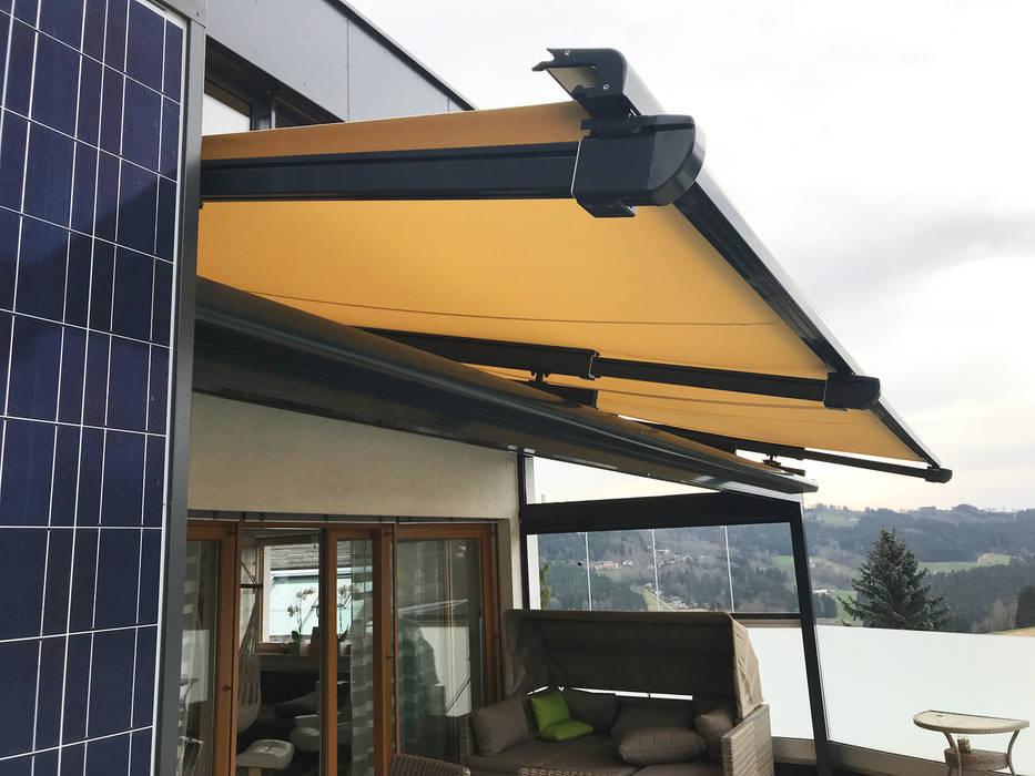 Terrassendach Mit Glasdach Und Markise Fur Einen Optimalen