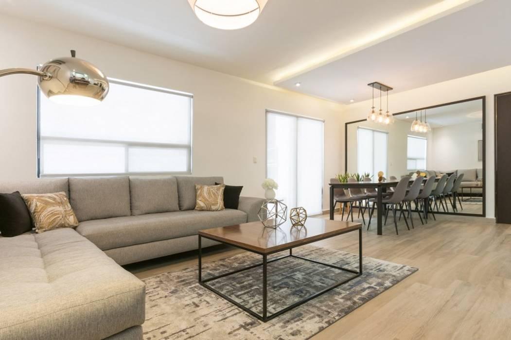 Modern Living Room by ESTUDIO TANGUMA Modern Quartz