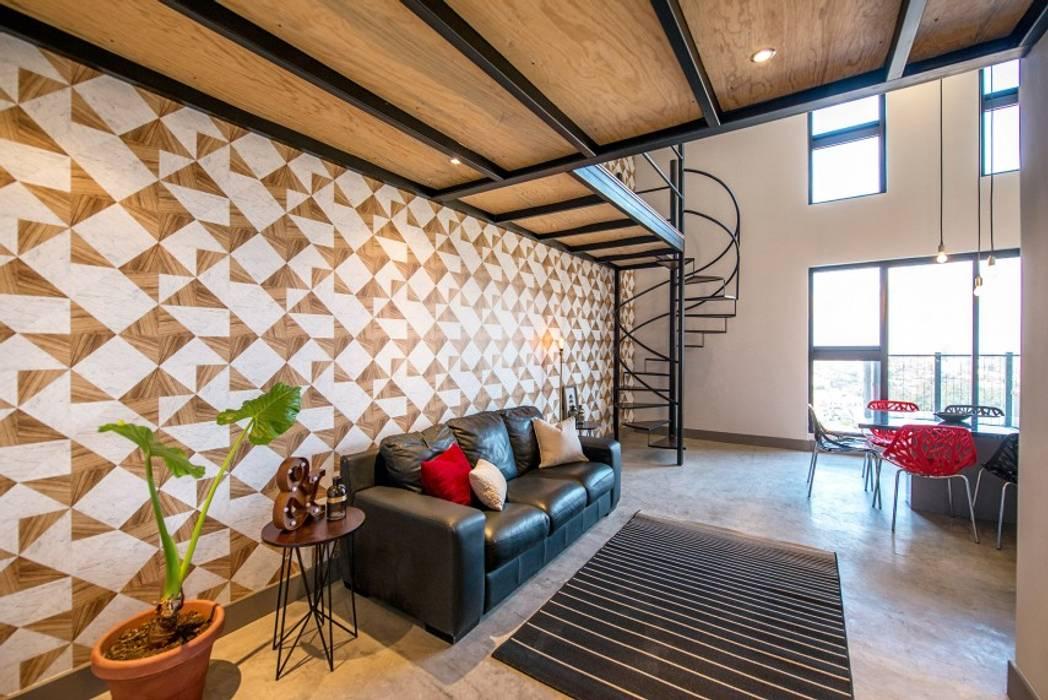 Semillero: Salas de estilo  por ESTUDIO TANGUMA, Moderno Cerámico