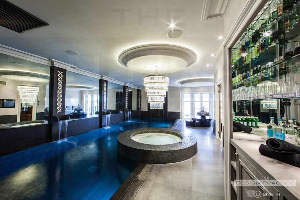 Underground spa with natural light:  Spa by Design by UBER,