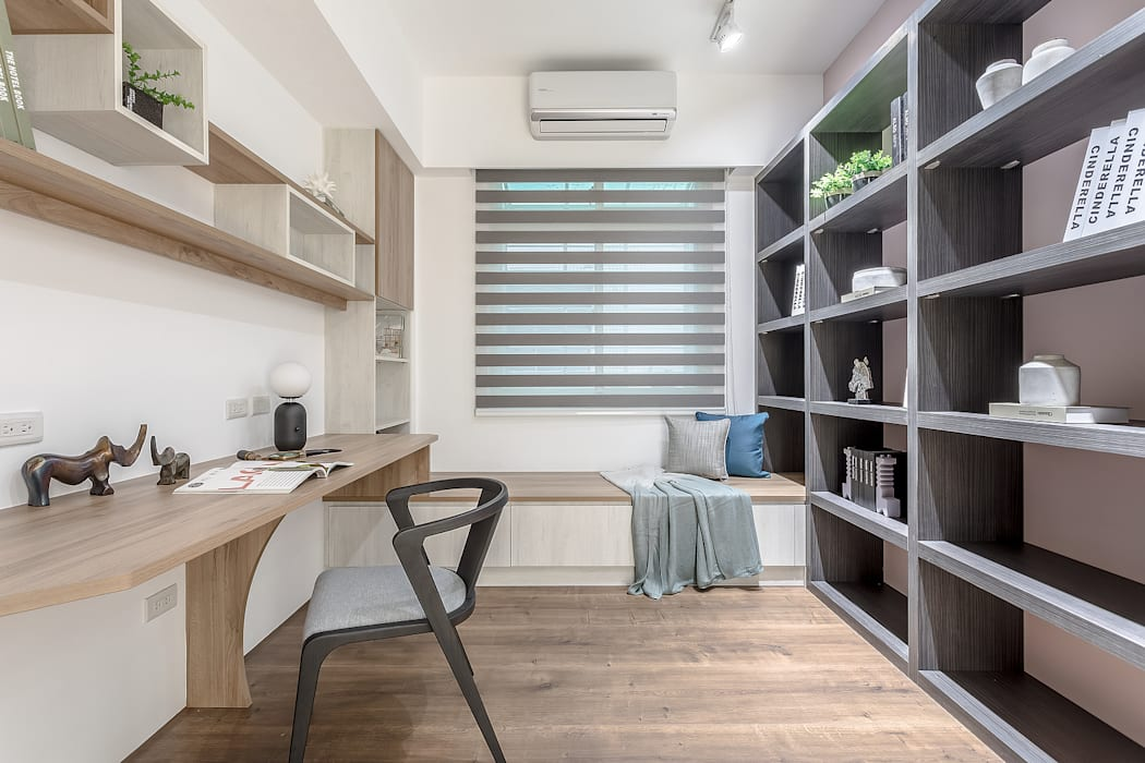 沐木:  書房/辦公室 by 知域設計, 北歐風