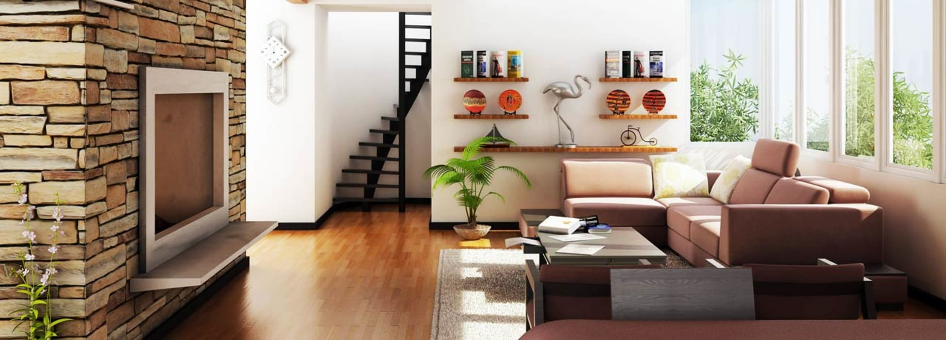 Progetto soggiorno angolo cottura: Soggiorno in stile in stile Moderno di Archihouse