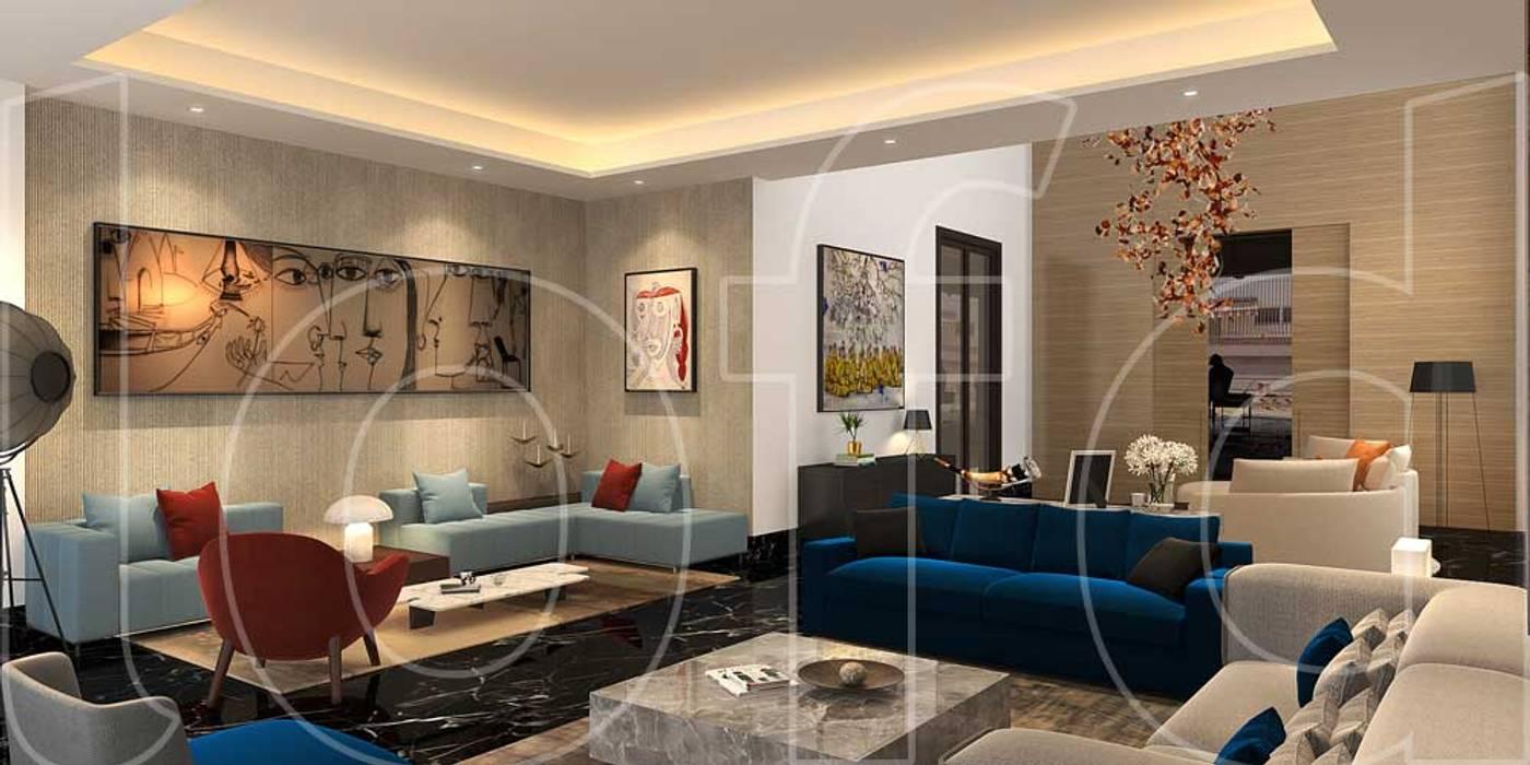 Moderne Wohnzimmer von Language of Design Modern