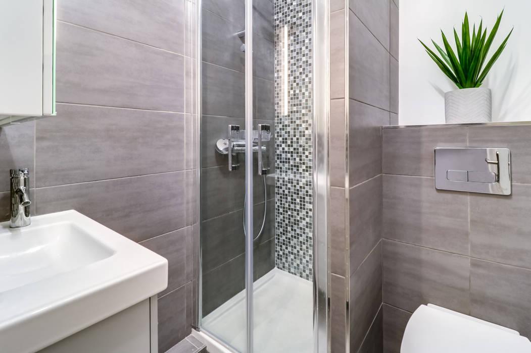 Salle d\'eau draveil salle de bain moderne par anne lapointe ...