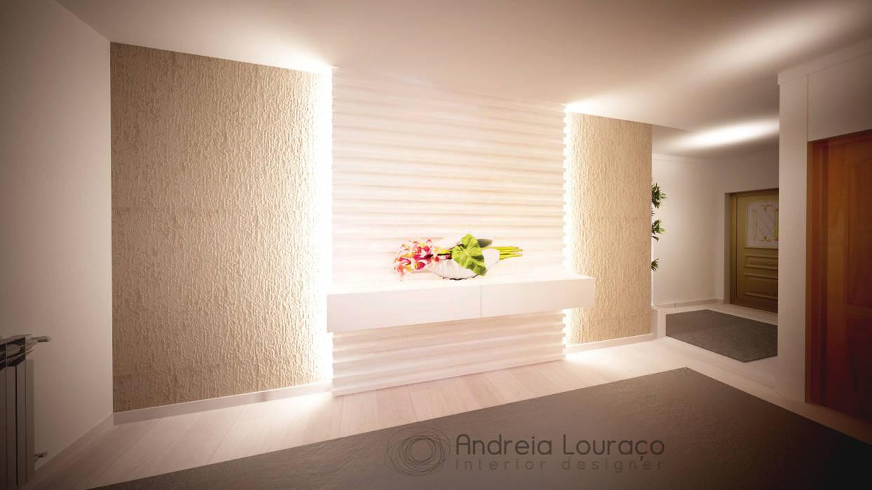 """Projecto Hall de Entrada """"2""""  -  Diferentes Soluções para o Mesmo Espaço: Corredores e halls de entrada  por Andreia Louraço - Designer de Interiores (Contacto: atelier.andreialouraco@gmail.com)"""