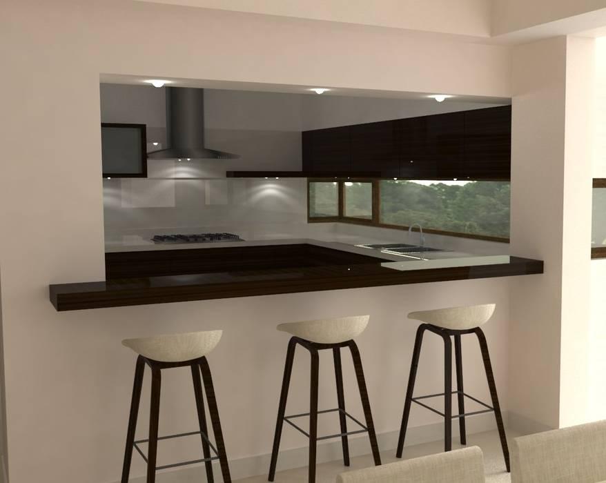 Vivienda en Pago Chico Cocinas modernas: Ideas, imágenes y decoración de NA ARQUITECTURA Moderno