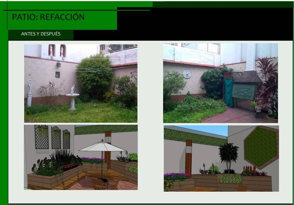 Propuesta: Jardines de estilo moderno por Estudio Carmesí. Diseño y Decoración
