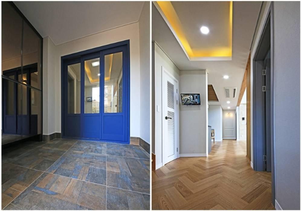Modern Corridor, Hallway and Staircase by 하우스톡 Modern