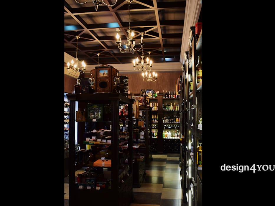 Специализированный магазин алкогольных напитков в Ереване Винный погреб в классическом стиле от design4y Классический