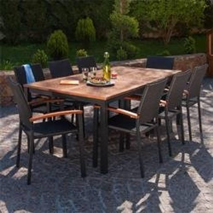 Tischgruppe Barcelona 200 Cm Schokoladenbraun Garten Von Oogarden