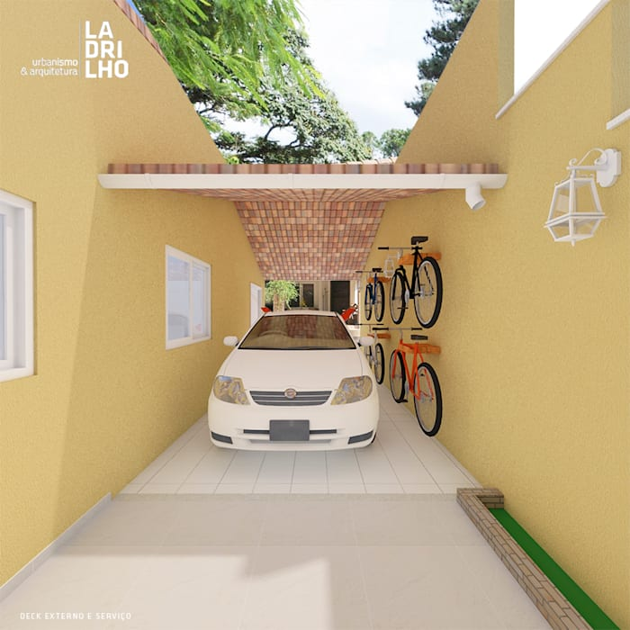 Garajes dobles de estilo  de Ladrilho Urbanismo e Arquitetura