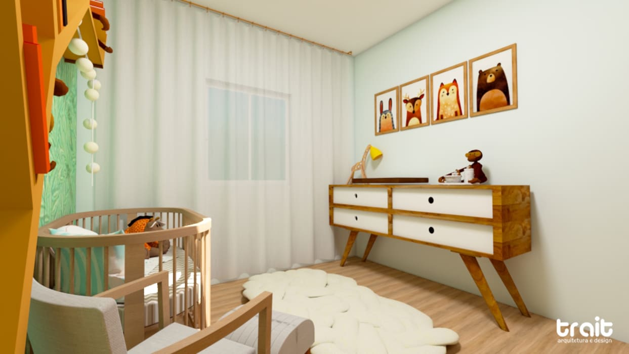 Baby room by Fark Arquitetura e Design,
