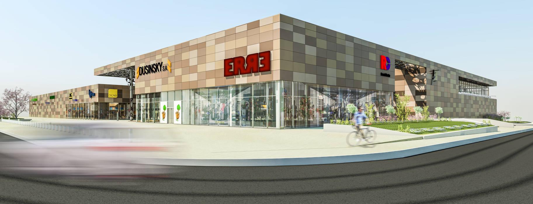 Camara 7 - Visuales de geometria: Shoppings y centros comerciales de estilo  por DUSINSKY S.A.