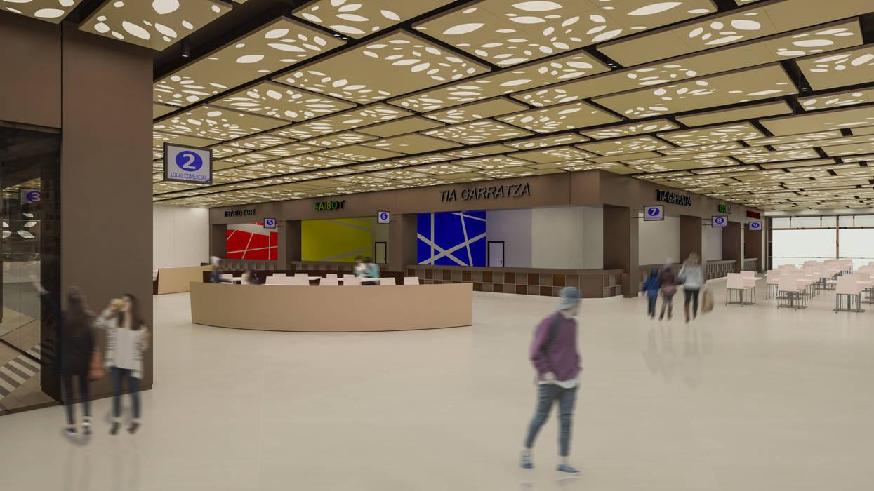 Camara 9 - Interior (Vista general de patio de comidas): Shoppings y centros comerciales de estilo  por DUSINSKY S.A.