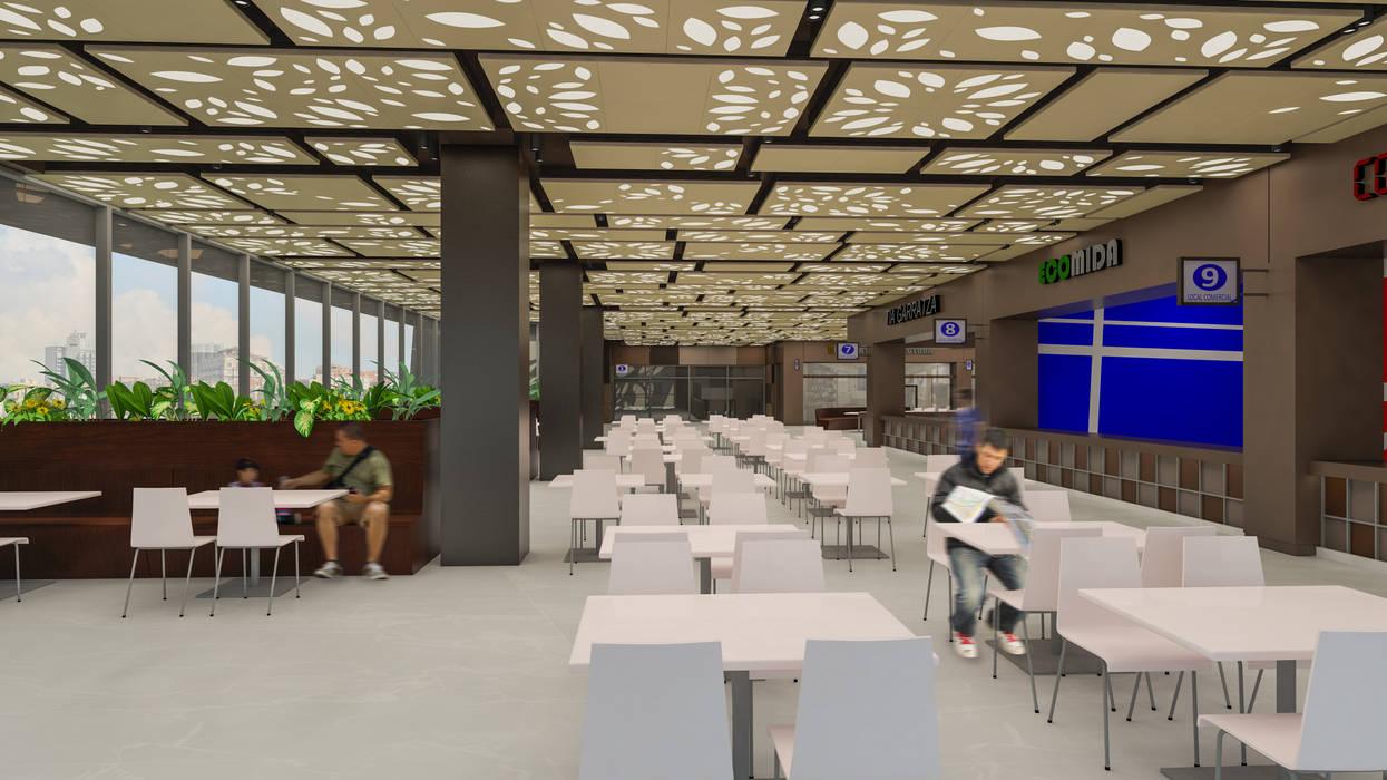 Camara 10 - Interior (Patio de comidas): Shoppings y centros comerciales de estilo  por DUSINSKY S.A.