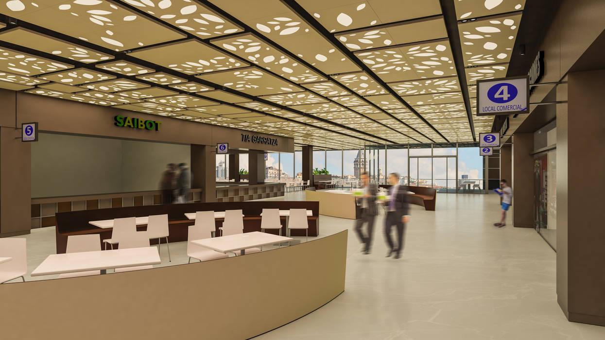 Camara 12 - Interior (Patio de comidas 2 + locales): Shoppings y centros comerciales de estilo  por DUSINSKY S.A.