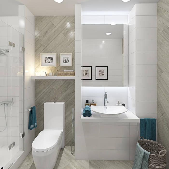 Дизайн-проект двухэтажного загородного дома в Ереване: Ванные комнаты в . Автор – design4y